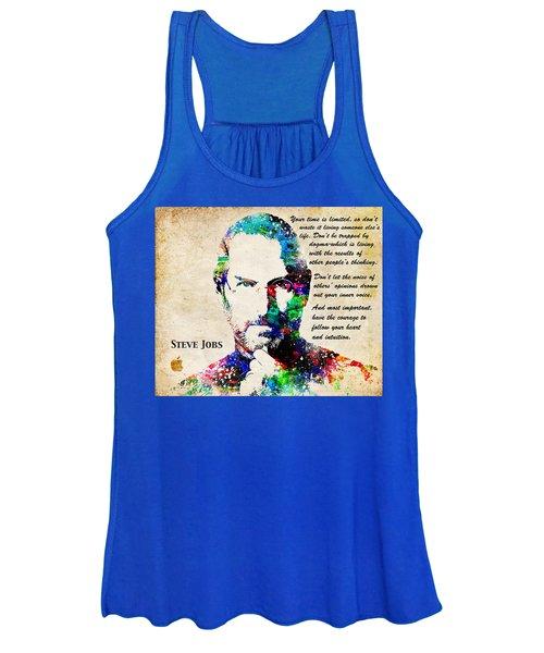 Steve Jobs Portrait Women's Tank Top