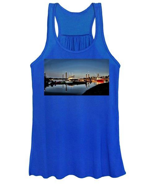 Sunny Morning At Onset Pier Women's Tank Top