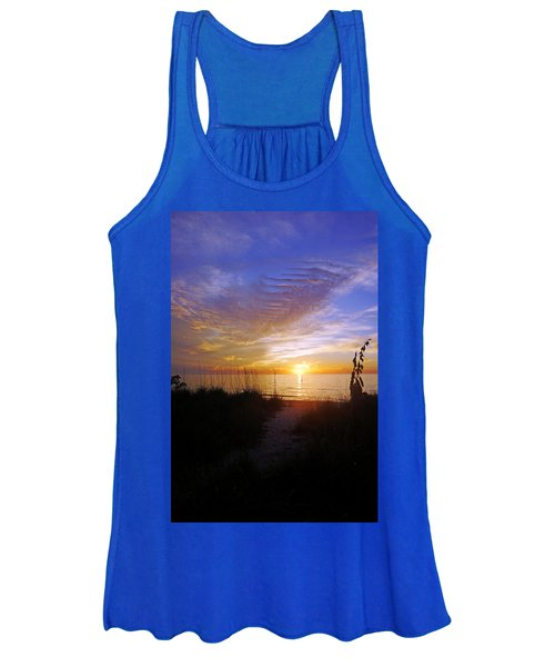 Sunset At Delnor Wiggins Pass State Park In Naples, Fl Women's Tank Top