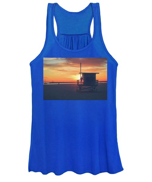 Sunset At Toes Beach Women's Tank Top