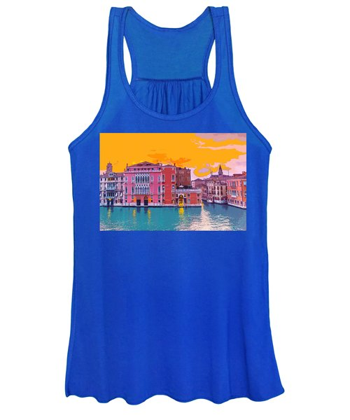 Sunset On The Grand Canal Venice Women's Tank Top