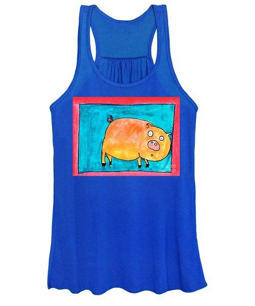 Surprised Pig Women's Tank Top