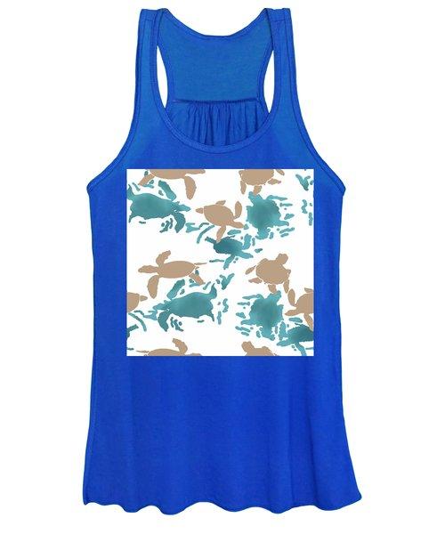 Swimming Turtles Women's Tank Top