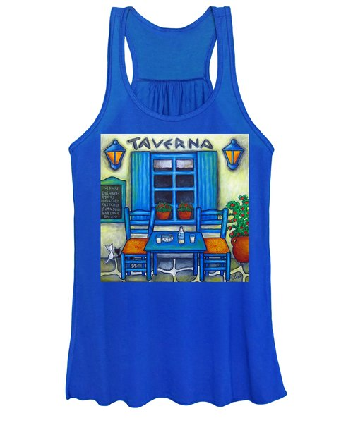 Table For Two In Greece Women's Tank Top