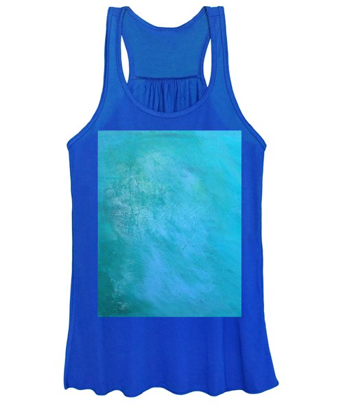 Women's Tank Top featuring the painting Teal by Antonio Romero