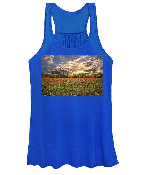 Texas Wildflowers Under Sunset Skies Women's Tank Top