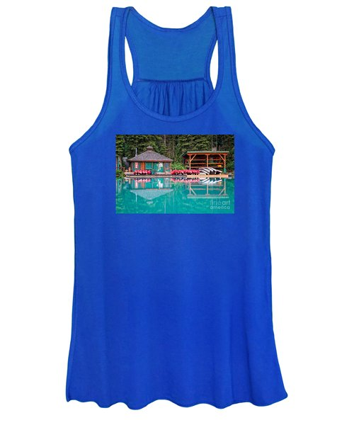 The Boat House At Emerald Lake In Yoho National Park Women's Tank Top