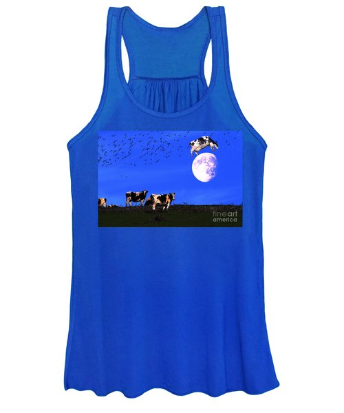 The Cow Jumped Over The Moon Women's Tank Top