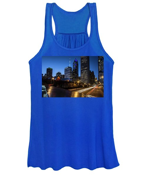 The East Side Skyline Of Chicago  Women's Tank Top