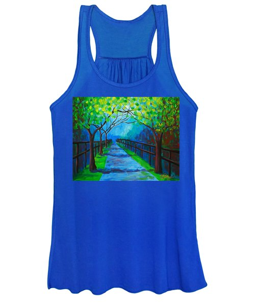 Tree Lined Fence Women's Tank Top