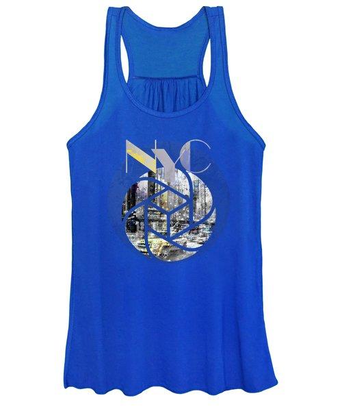 Trendy Design New York City Geometric Mix No 4 Women's Tank Top