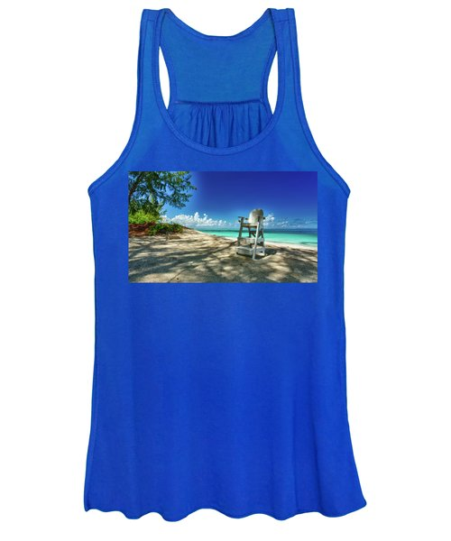Tropical Beach Chair Women's Tank Top