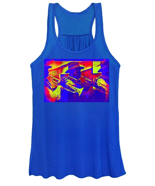 Trumpet Player Pop-art Women's Tank Top
