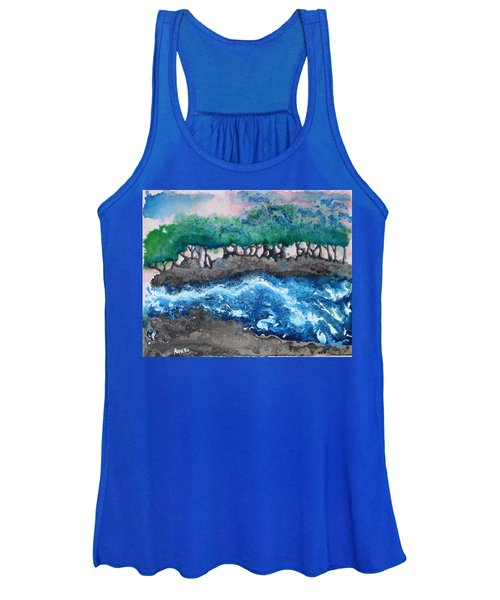 Women's Tank Top featuring the painting Turbulent Waters by Antonio Romero