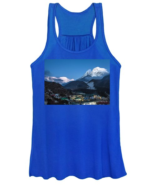 Twilight Over Pangboche In Nepal Women's Tank Top