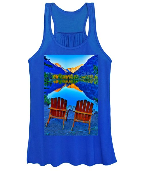 Two Chairs In Paradise Women's Tank Top