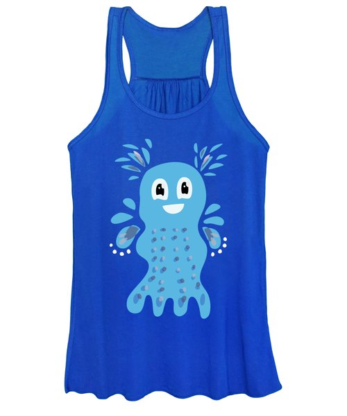 Undiscovered Blue Cute Sea Creature Women's Tank Top