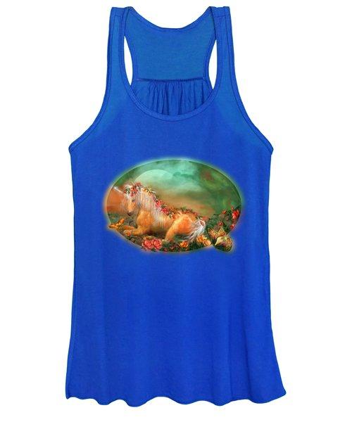 Unicorn Of The Roses Women's Tank Top