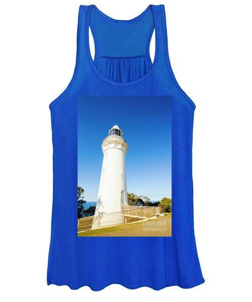 White Seaside Tower Women's Tank Top