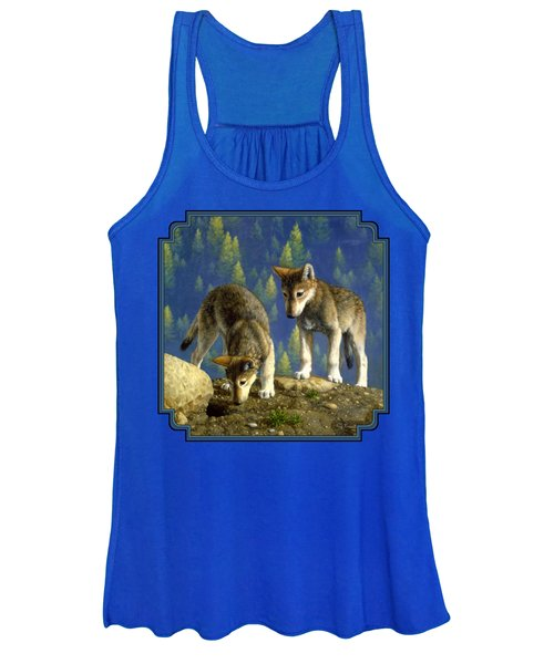 Wolf Pups - Anybody Home Women's Tank Top