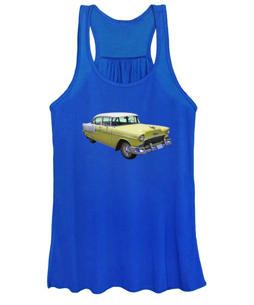 Yellow 1955 Chevrolet Bel Air Women's Tank Top