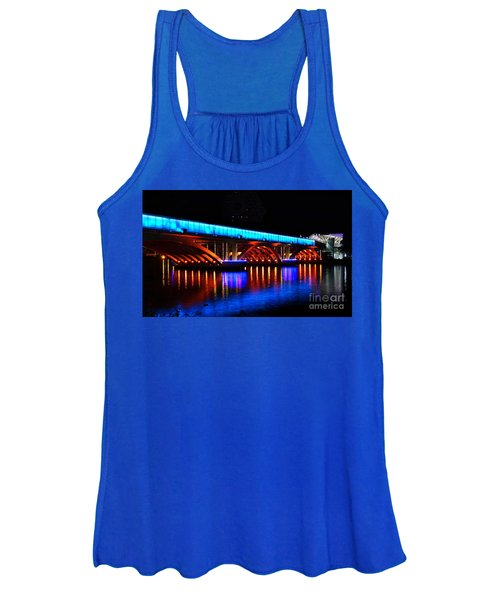 Evening View Of The Love River And Illuminated Bridge Women's Tank Top