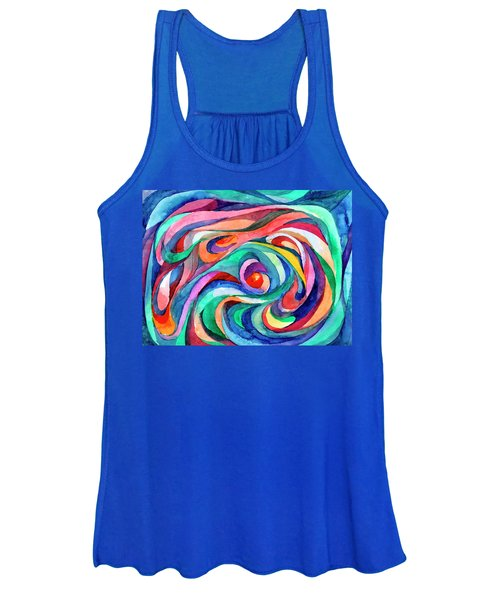 Women's Tank Top featuring the painting Abstract Underwater World by Irina Dobrotsvet