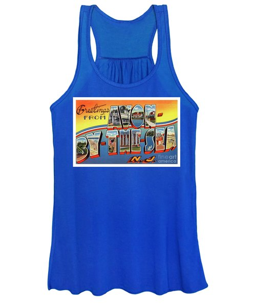Avon-by-the-sea Greetings Women's Tank Top