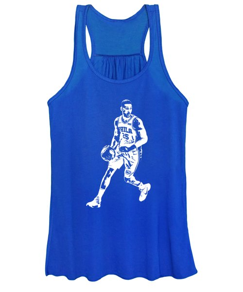 Ben Simmons Philadelphia 76ers T Shirt Apparel Pixel Art 1 Women's Tank Top