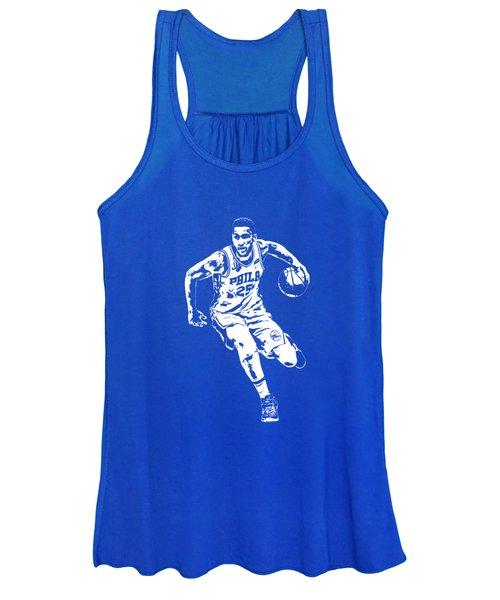 Ben Simmons Philadelphia 76ers T Shirt Apparel Pixel Art 2 Women's Tank Top