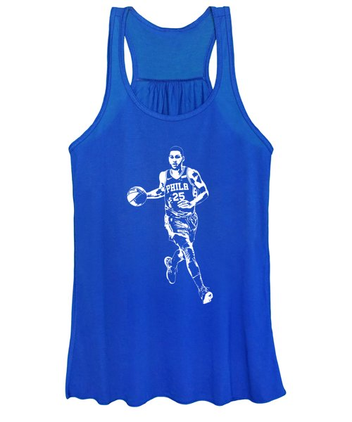 Ben Simmons Philadelphia 76ers T Shirt Apparel Pixel Art 3 Women's Tank Top