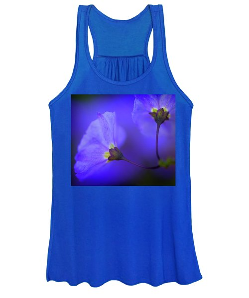 Blue Flower Women's Tank Top
