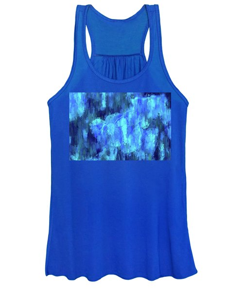 Blue Tulips On A Rainy Day Women's Tank Top