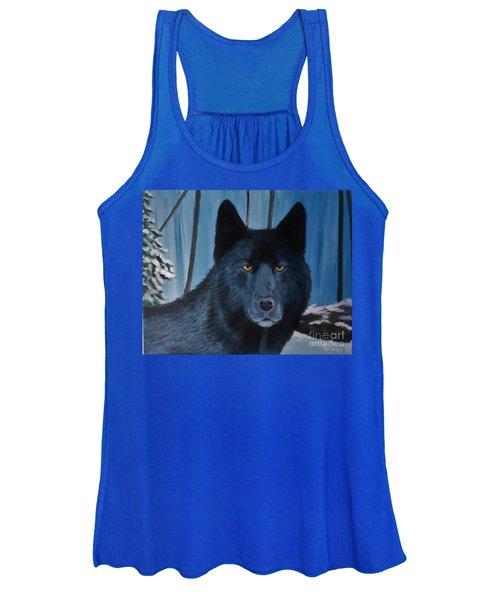 Blue Wolf Women's Tank Top