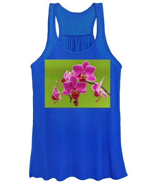 Brilliant Pink Orchid Women's Tank Top