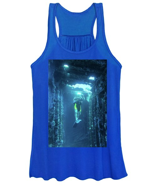Diver In The Patris Shipwreck Women's Tank Top