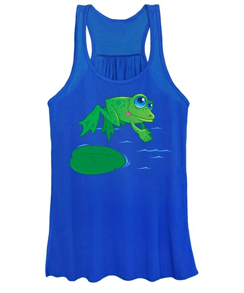 Diving Frog Women's Tank Top