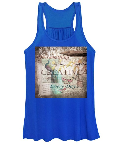 Do Something Creative Every Day Vintage Art Women's Tank Top