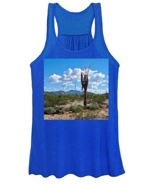 Dying Saguaro In The Desert Women's Tank Top