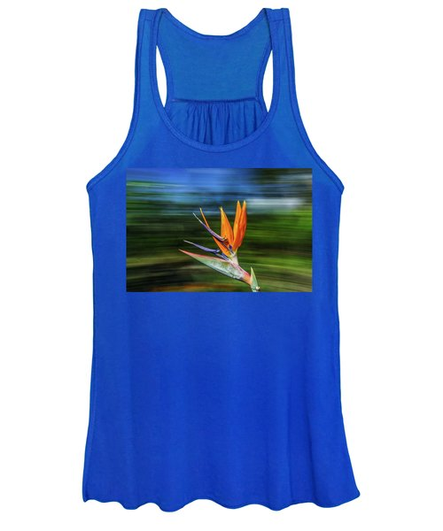 Flying Bird Of Paradise Women's Tank Top