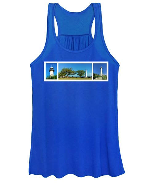 Grand Old Lighthouse Biloxi Ms Collage A1e Women's Tank Top