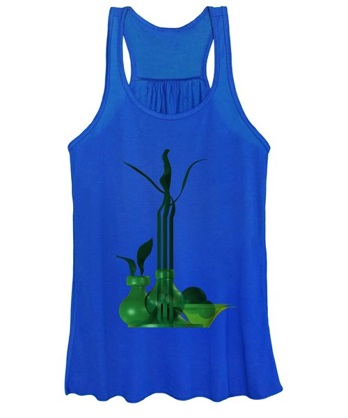 Green Still Life With Cool Elements Women's Tank Top