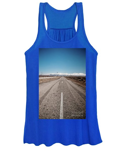 infinit road in Turkish landscapes Women's Tank Top
