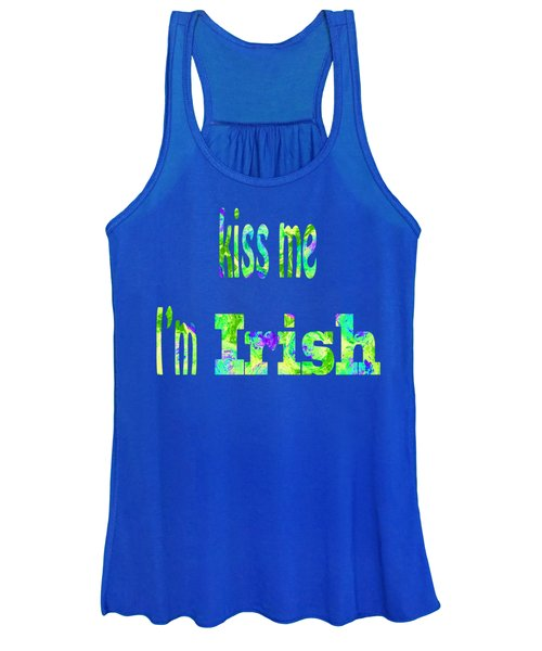 Women's Tank Top featuring the digital art Irish Kiss by Corinne Carroll