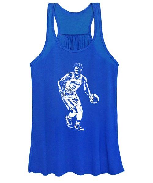 Joel Embiid Philadelphia 76ers T Shirt Apparel Pixel Art 1 Women's Tank Top