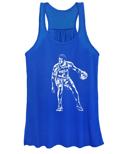 Joel Embiid Philadelphia 76ers T Shirt Apparel Pixel Art 2 Women's Tank Top