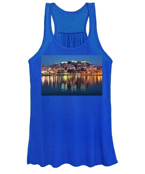 Kavala Town At Night Women's Tank Top