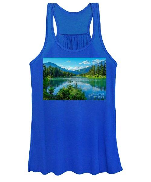Lake At Banff Indian Trading Post Women's Tank Top