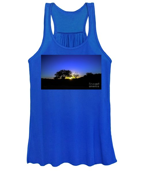 Last Light Texas Hill Country Paradise Canyon Sunset 8053a1 Women's Tank Top
