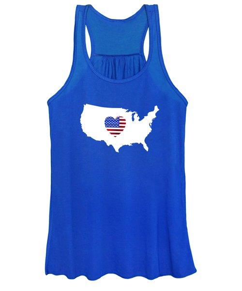 Love America Map Women's Tank Top